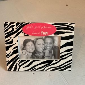 Girls Just Wanna Have Fun 3x5 picture frame NEW